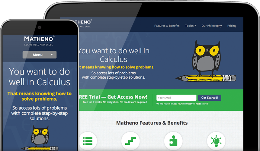 Matheno site across devices