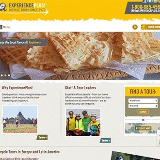 Experience Plus Bicycle Tours Featured Portfolio Image